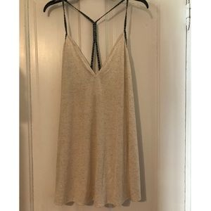 Oatmeal cover-up with braided straps - never worn